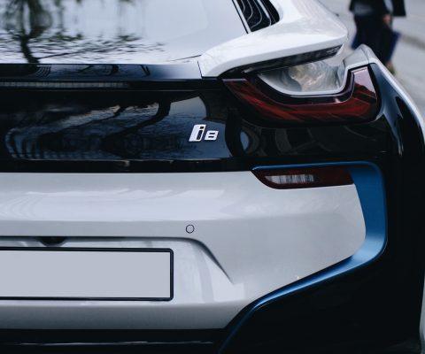 Verschillende elektrische BMW-auto's